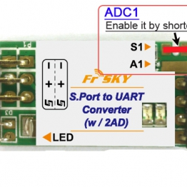 FrSky S.Port to UART converter with 2 ADC ports (SP2UART)
