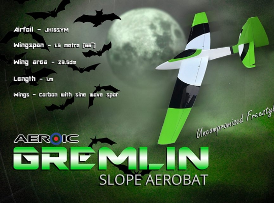 Aeroic Gremlin Slope Aerobat - Red/Yell/Blue -