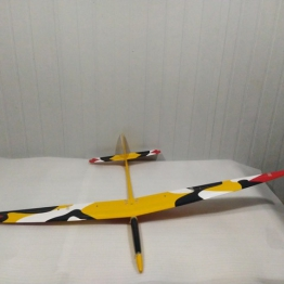 Firebird 60 S Moulded Glider - Yellow and White Black Camo