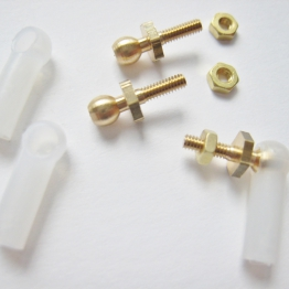 Ball Link Set - Cup Style - High Quality Nylon and Brass