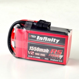 Infinity 1550mAh RS Force V2 14.8V 4S Lipo Battery Pack