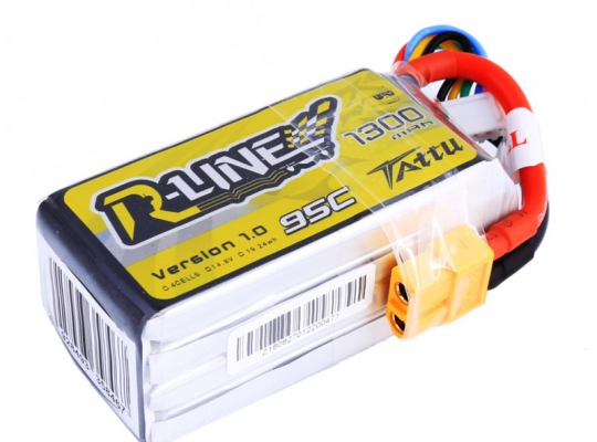 TATTU R-Line 1300MAH 95C 4S1P Lipo Battery