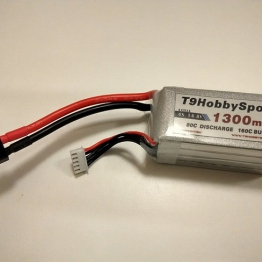 T9 Black Edition Premium Graphene 1300mAh 14.8V 80C 4S Lipo Battery Pack