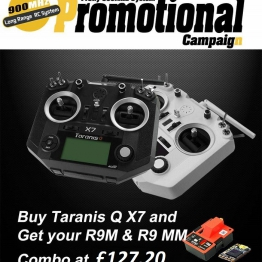 FrSky Taranis QX7 with R9M Module and R9MM Receiver