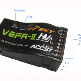 frsky v8fr ii 24g rx FrSky V8FR II 8 Channel 2 4G Receiver 2 262x262 v8fr ii 8 channel 2 4ghz receiver  at gsmx.co