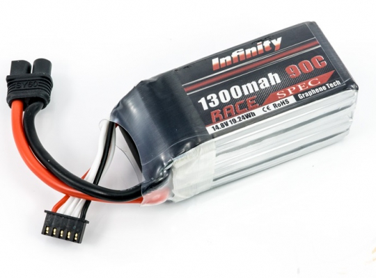 Infinity 1300mAh Race 14.8V 4S Lipo Battery Pack
