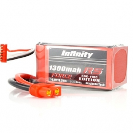 Infinity 1300mAh RS Force 14.8V 4S Lipo Battery Pack
