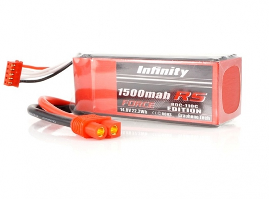Infinity 1500mAh RS Force 14.8V 4S Lipo Battery Pack