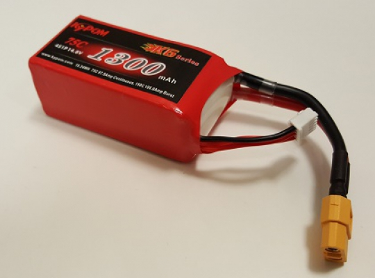 Kypom 1300mAh 14.8V 75C 4S Lipo Battery Pack