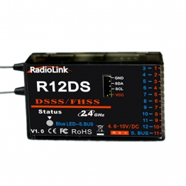 RadioLink R12DS 2.4Ghz 12 channel receiver