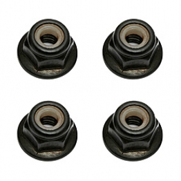 Team Associated 91148 M4 Locknut with flange and knurl